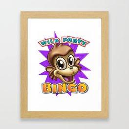 Wild Party Bingo - Bing the Monkey Framed Art Print