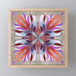 Tile Design Large Flower Framed Mini Art Print