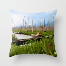 Floating gardens Throw Pillow