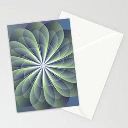 Unfolded petals, floral fractal design Stationery Cards