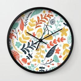 Forest Flora Wall Clock