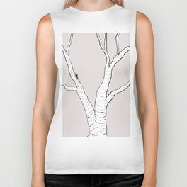 Birch Tree Illustration Biker Tank
