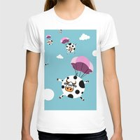 cows T-shirts featuring flying cows by vitamin