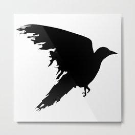 Ragged Raven Silhouette Metal Print