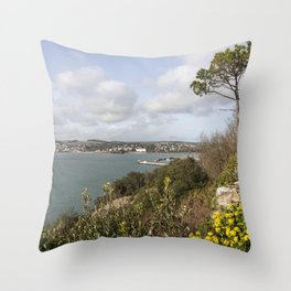 Torquay Headland Throw Pillow