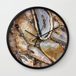 Crystal Art | Photography | Nature | Earth | Gold Art | Gems | Geology Wall Clock