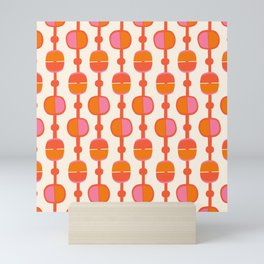 Mid Century Retro Dots Mini Art Print