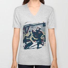Goalie - Ice Hockey Player Unisex V-Neck