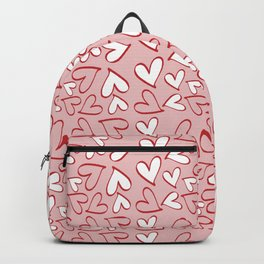 Love, Romance, Hearts - Red Pink White Backpack
