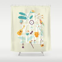 adventure Shower Curtains featuring Adventure  by Wharton