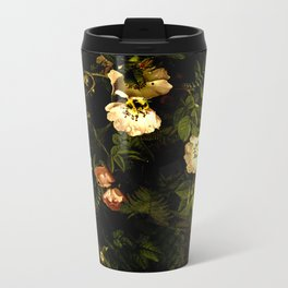 Floral Night III Metal Travel Mug