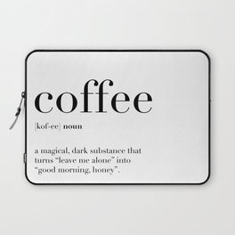 Coffee Definition Laptop Sleeve