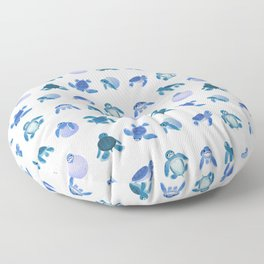 Baby sea turtles Floor Pillow