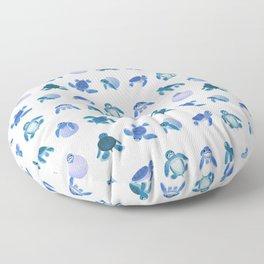 Baby sea turtles Floor Pillow