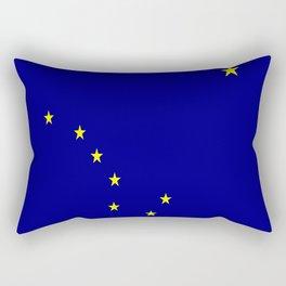 flag of alaska,america,usa,ice, north,Midnight Sun,Alaskan,Anchorage,Fairbanks,Juneau Rectangular Pillow