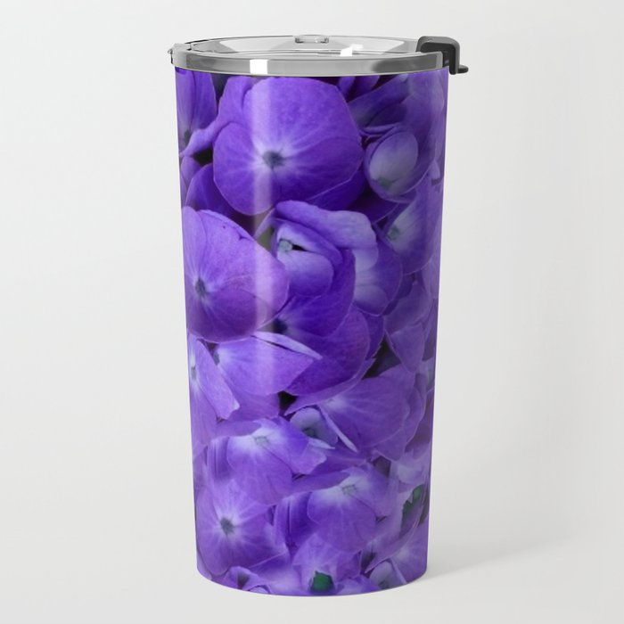 Amethyst  Hydrangea Flowers Garden Art Travel Mug