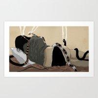 medusa Art Prints featuring Medusa by Matthew Goik