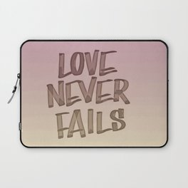 Love Never Fails - Gradient Laptop Sleeve