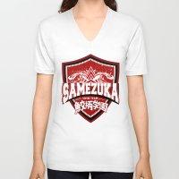 iwatobi V-neck T-shirts featuring SAMEZUKA PRIDE by Cup of June