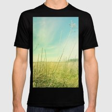 Out to Pasture Mens Fitted Tee Black MEDIUM