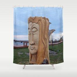 Driftwood Face Shower Curtain