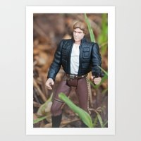 han solo Art Prints featuring Han Solo by iFallForward