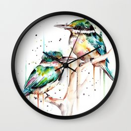 Kingfishers Wall Clock