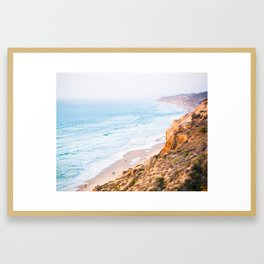 Cliffs at Torrey Pines Reserve Fine Art Print Framed Art Print