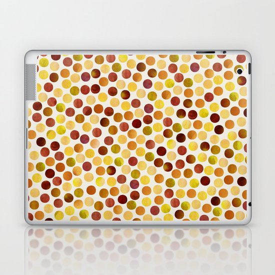 Watercolor Dots_Amber Laptop & iPad Skin