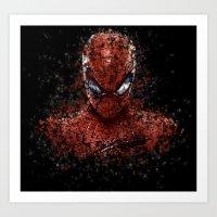 spider man Art Prints featuring Spider Spider-Man by Diego Farias
