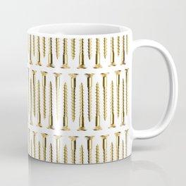 Golden Screws Texture Coffee Mug