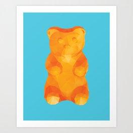 Gummy Bear Polygon Art Art Print