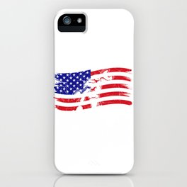 Happy Labor Day - Worker USA Flag National Holiday Gift iPhone Case