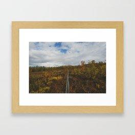 Arctic Autumn - Swedish Lapland Framed Art Print