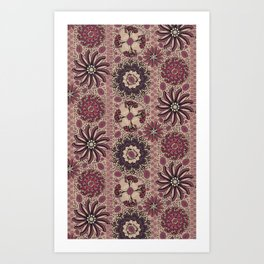 Medallion Stripe Art Print