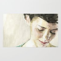 amelie Area & Throw Rugs featuring Amelie Poulain  by Stefan Harris