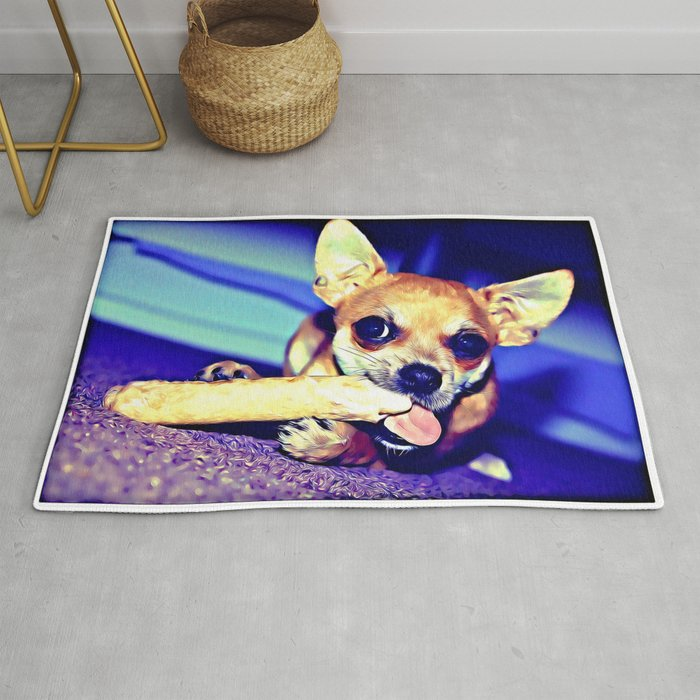 Archie The Chihuahua Rug By
