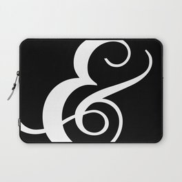The Lovely Ampersand - Black and White Laptop Sleeve