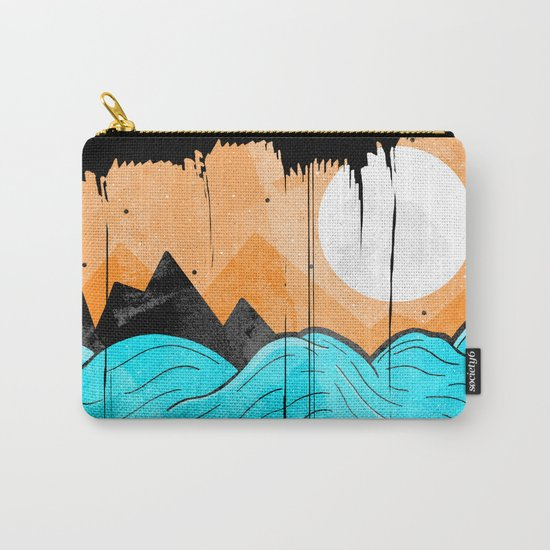 The Sea Waves Carry-All Pouch
