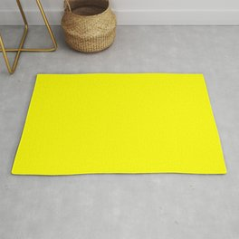 NEON YELLOW solid color Rug