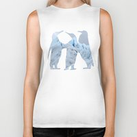 penguins Biker Tanks featuring Penguins by Natural Wonders