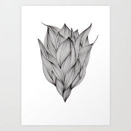 Luchtbloem Art Print