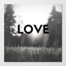 LOVE Sunshine Scenery (Valentine's Day Gifts / Black & White Valentine Day Gift) Canvas Print