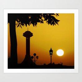 Sunset in Abu Dhabi - United Arab Emirates Art Print
