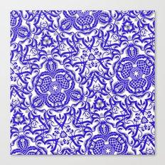 Blue antik lace Canvas Print