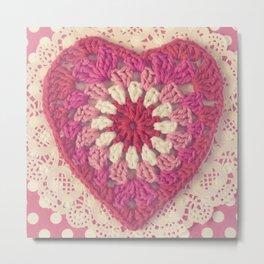 Crochet Valentine Metal Print