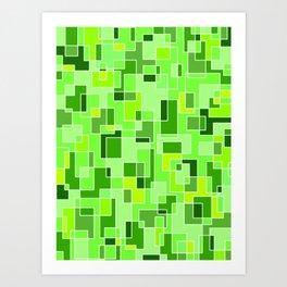 Pixelated Camouflage Art Print