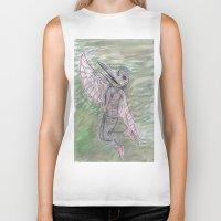 birdman Biker Tanks featuring blackdeath birdman by melissa E