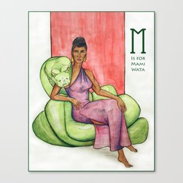 M is for Mami Wata Canvas Print