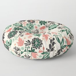 Succulent flowerbed Floor Pillow